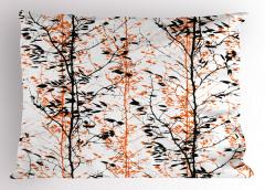 Ağaçlar ve Silüetleri Yastık Kılıfı Dekoratif Şık