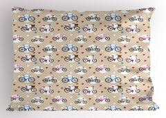 Boy Boy Bisikletler Yastık Kılıfı Şık