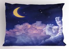 Aydede Bulutlar Yıldız Yastık Kılıfı Gece Gökyüzü