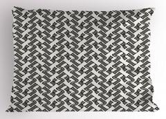 Stilize Beş Rakamı Yastık Kılıfı Dekoratif