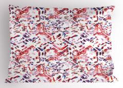 Stilize Üçgen Desenli Yastık Kılıfı Geometrik