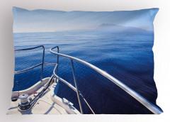 Adaya Karşı Demir Attık Yastık Kılıfı Deniz ve Yat