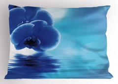 Orkidenin Suya Dokunuşu Yastık Kılıfı Dekoratif