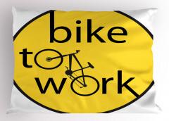 Bisiklete Binin İlanı Yastık Kılıfı Dekoratif