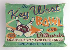 Bowling Salonu Tabelası Yastık Kılıfı Nostaljik