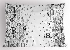 Sayılar Desenli Yastık Kılıfı Siyah Beyaz Matematik
