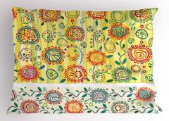 Çiçekli Şal Desenli Yastık Kılıfı Dekoratif Şık