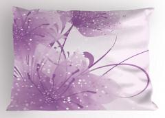 Mor Dekoratif Çiçekli Yastık Kılıfı Şık Tasarım