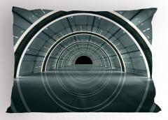 3D Koridor Desenli Yastık Kılıfı Teknolojik Gri