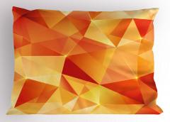 Turuncu Üçgen Desenli Yastık Kılıfı Geometrik Şık