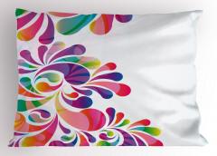 Rengarenk Çiçekler Yastık Kılıfı Dekoratif Şık