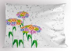 Rengarenk Kır Çiçekleri Yastık Kılıfı Dekoratif Şık