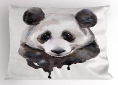 Sevimli Panda Desenli Yastık Kılıfı Sulu Boya Şık