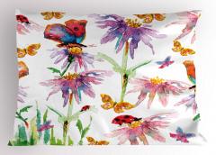 Kelebekler ve Uğur Böcekleri Yastık Kılıfı Şık Tasarım