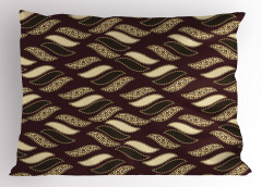 Şık Kamuflaj Desenli Yastık Kılıfı Kahverengi Bej
