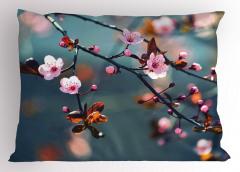 Japon Kiraz Çiçekleri Yastık Kılıfı Dekoratif Şık