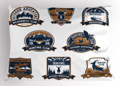 Avcılık Kulüpleri Yastık Kılıfı Kahverengi Mavi Doğa