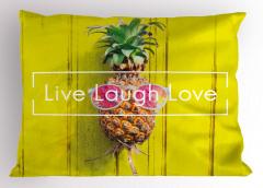Ananaslı İlham Verici Yastık Kılıfı Yaşa Gül Sev