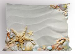 Kumsaldaki Kabuklar Yastık Kılıfı Denizyıldızı Şık