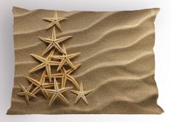 Kumsaldaki Canlılar Yastık Kılıfı Denizyıldızı Bej