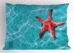 Büyük Denizyıldızı Yastık Kılıfı Kırmızı Mavi