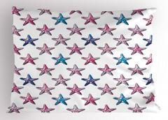 Mor Mavi Denizyıldızı Yastık Kılıfı Şık Tasarım