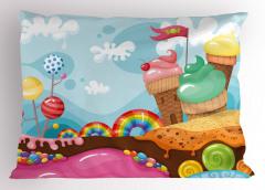 Dondurmadan Kent Yastık Kılıfı Rengarenk Dekoratif