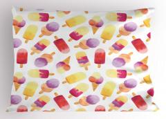 Mor Dondurmalı Desen Yastık Kılıfı Meyveli Dekoratif