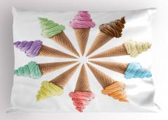 Leziz Dondurmalar Yastık Kılıfı Rengarenk Dekoratif