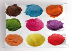 Gökkuşağı Dondurma Yastık Kılıfı Rengarenk Dekoratif