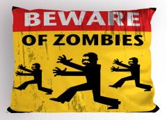 Zombilere Dikkat Yastık Kılıfı Fantastik Korkunç
