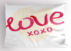 Xox Oyunu Sevgisi Yastık Kılıfı Pembe Sulu Boya