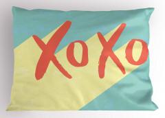 Pembe Xox Oyunu Yastık Kılıfı Mavi Eğlenceli