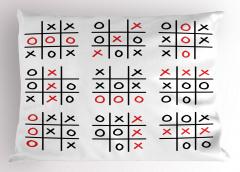 Xox Tabloları Yastık Kılıfı Siyah Beyaz Kırmızı