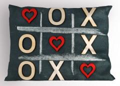 Kırmızı Kapli Xox Yastık Kılıfı Oyun Eğlenceli
