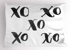 Sulu Boya Xox Yastık Kılıfı Oyun Bulmaca Dekoratif