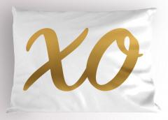 Altın X ve O Yastık Kılıfı Harf Oyun Eğlenceli