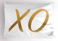 Altından X ve O Yastık Kılıfı Harf Oyun Eğlenceli