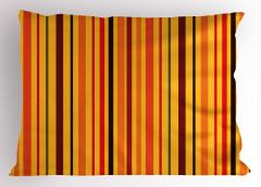 Sarı Uzun Çizgiler Yastık Kılıfı Şık Tasarım