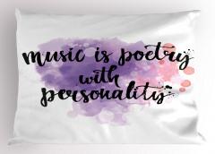 Müzik Kişilikli Şiirdir Yastık Kılıfı İlham Verici