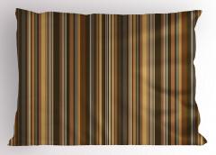 Kahverengi Çizgili Yastık Kılıfı Şık Tasarım