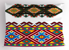 Rengarenk Etnik Yastık Kılıfı Geometrik Dekoratif