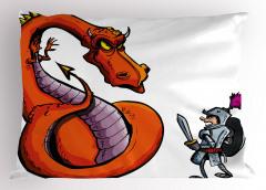 Ejderha ve Aziz George Yastık Kılıfı Hıristiyan Dini