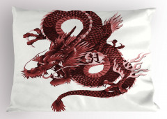 Japon Ejderhası Yastık Kılıfı Mitolojik Fantastik