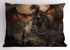 Fantastik Canavar Yastık Kılıfı Ejderha Mitolojik