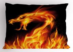Alev Alev Ejderha Yastık Kılıfı Fantastik Canavar