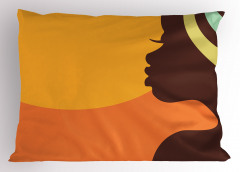Profilden Afrikalı Yastık Kılıfı Etnik Dekoratif Kadın