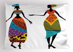 Afrika Köylüleri Yastık Kılıfı Etnik Şık Tasarım