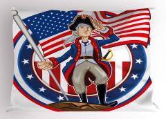Amerikan Devrimi Yastık Kılıfı Mavi Kırmızı Bayrak
