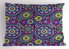 Mor Mandala Desenli Yastık Kılıfı Karışık Desenli